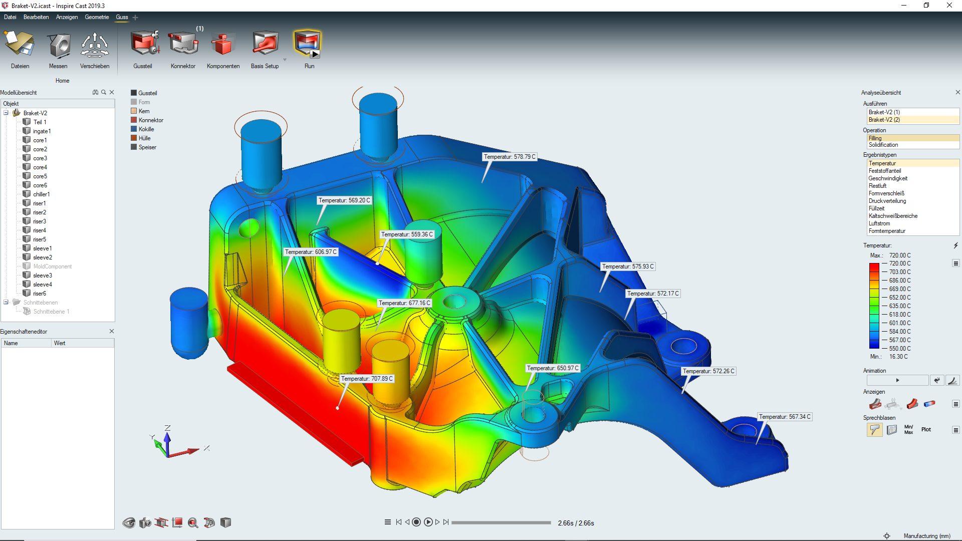 Halter Klimakompressor Inspire Cast Prototypenguss